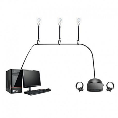 Système d'attaches rétractables pour câbles Oculus Rift S