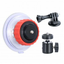 suction cup with ball head for 360° camera