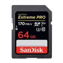 memory card SDXC SanDisk Extreme PRO 64 Go jusqu'à 170 Mo/s, Classe 10, U3, V3