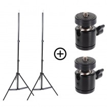 Pack of 2 tripods 220cm + 2 ball joints ¼ screws for Vive / Steam VR base stations