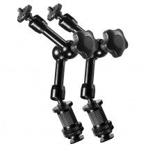 Pack of 2 WALIMEX Pro Articulated Swivel Magic Arms 18cm